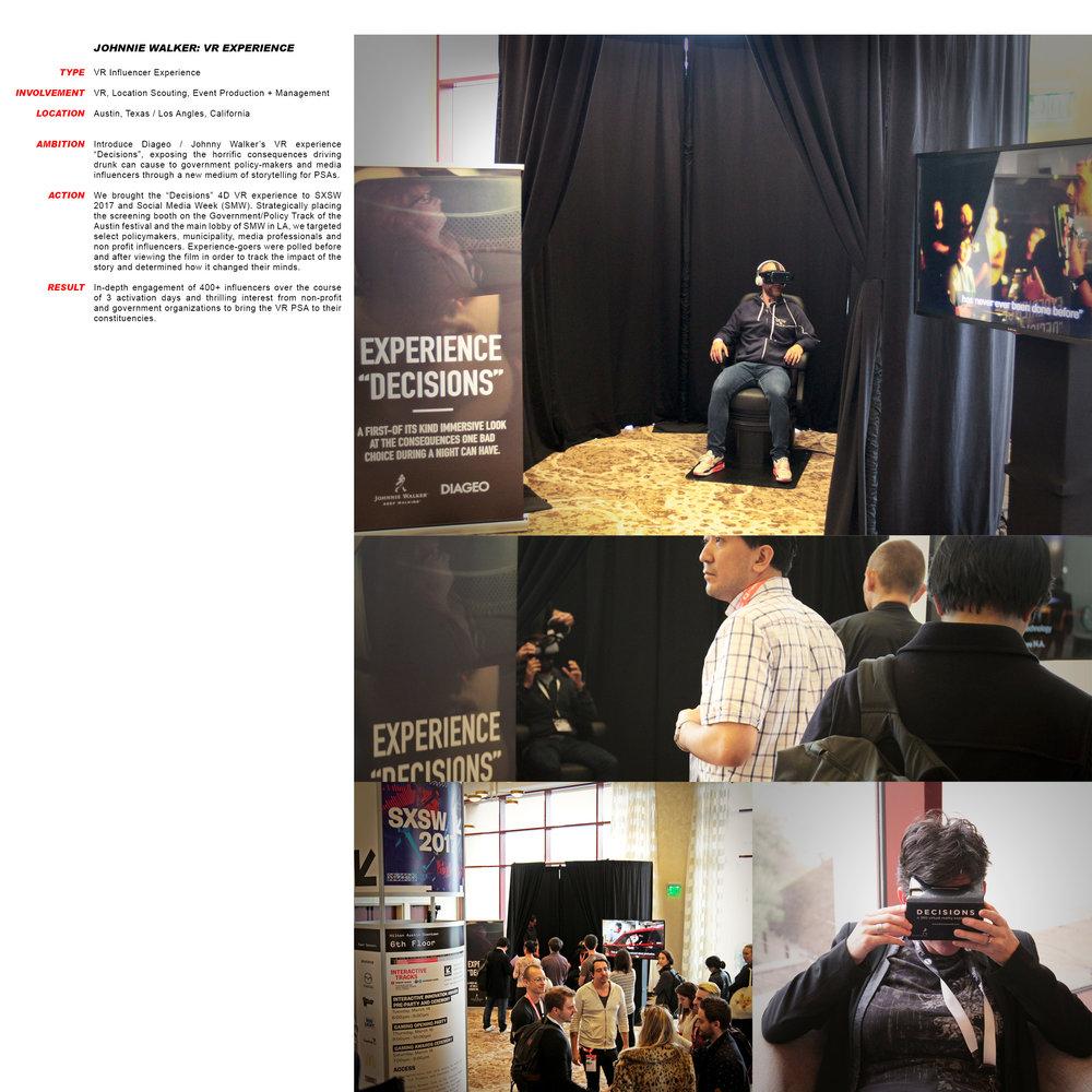 Johnnie Walker: VR Experience