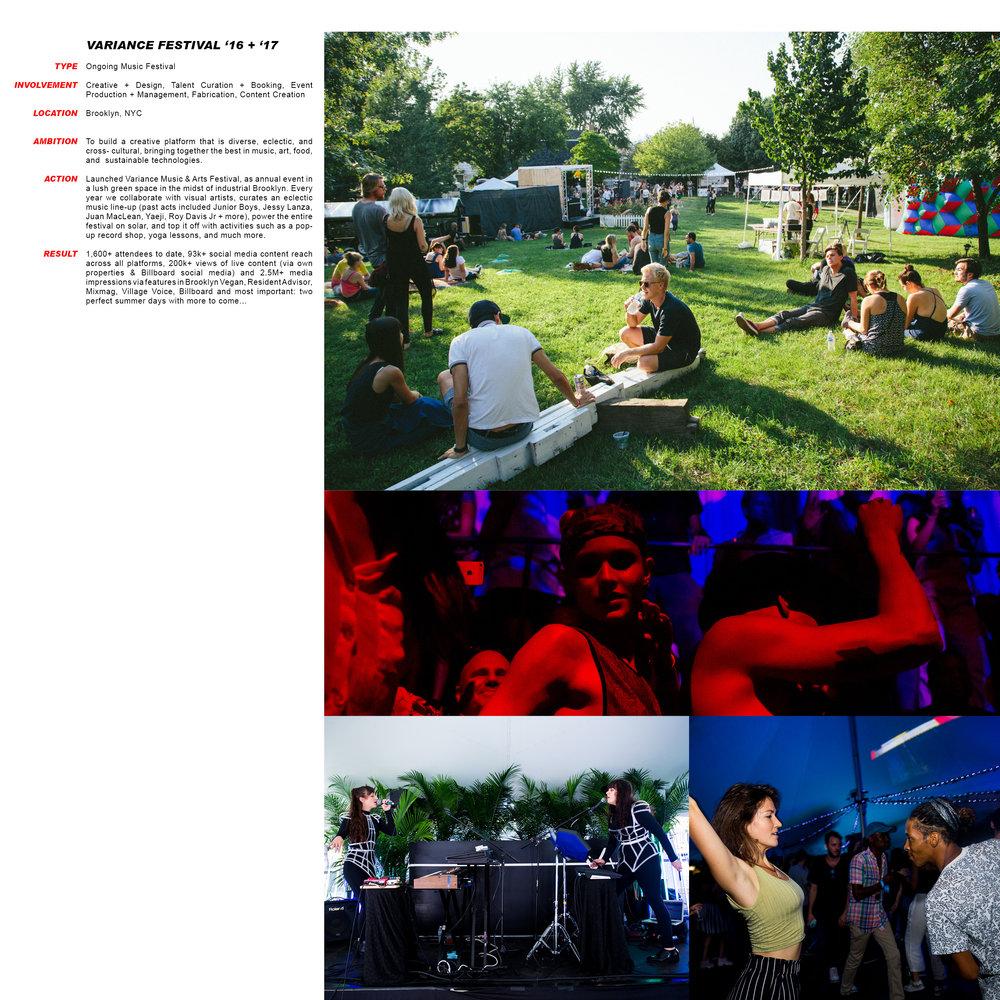 Variance Festival '16 + '17