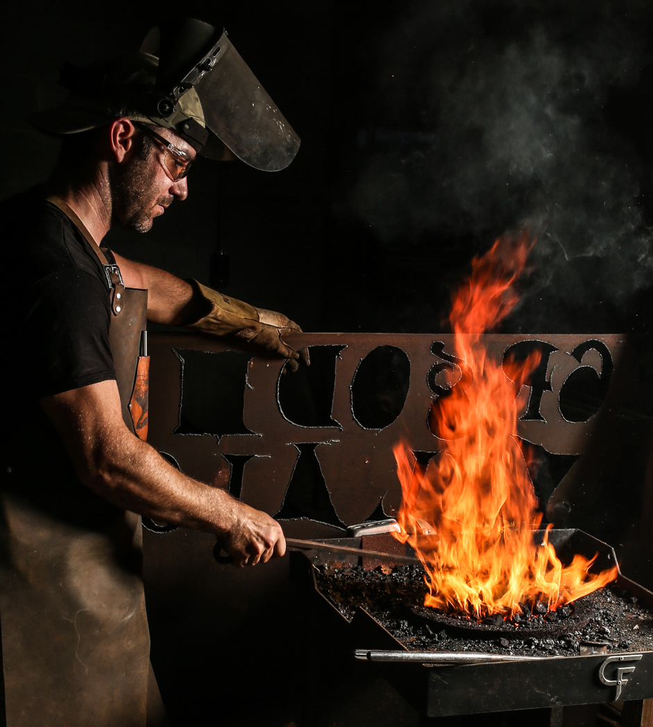 Blacksmith - Ryan Tuck Using A Coal Forge