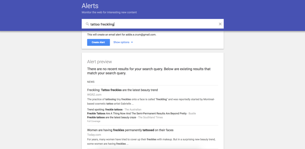 GOOGLE ALERTS - Stay in the loop and be the first to know about related hot topics with google alerts.