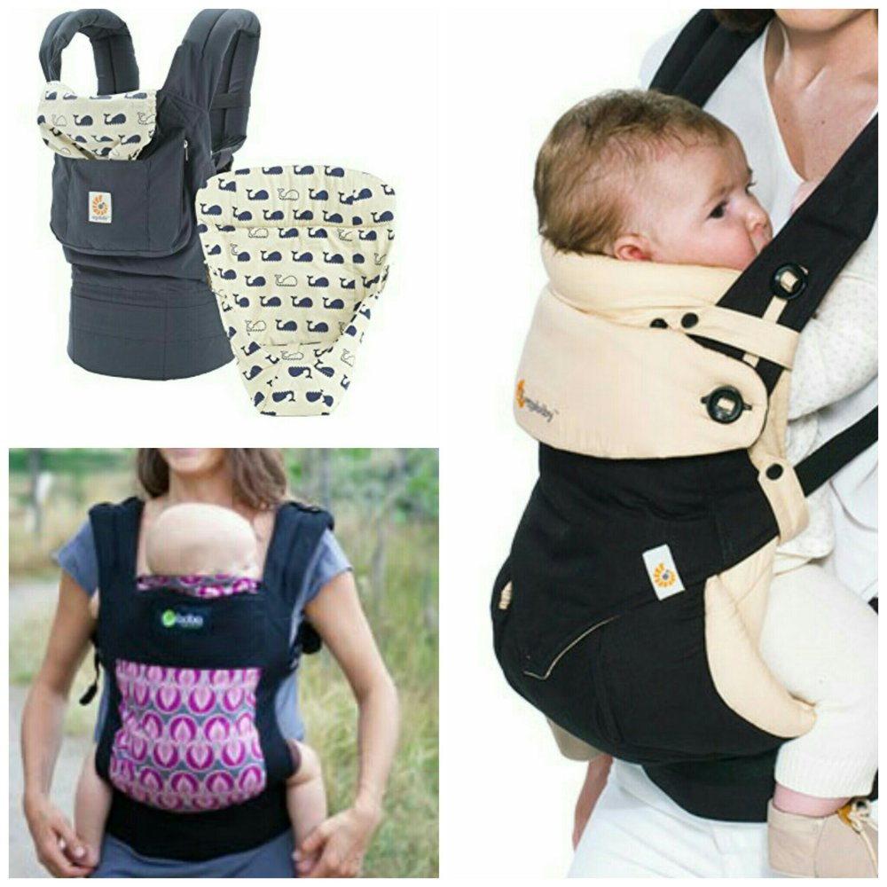 These would be an example of a more structured carrier. These designs come with specific weight requirements established by the company. (Top Left/Right) Ergo Baby has a universal carrier that can hold between 12-33 lbs. When purchasing for long term use, you will have to purchase and infant insert designed to prop baby higher and closer to the adult. The weight requirements with the infant insert 7-12 lbs.(Bottom Left) Boba has designed a simpler carrier that doesn't require the extra insert, but it would require you to by a newer model as baby grows beyond it's 7-15 lbs weight limit.