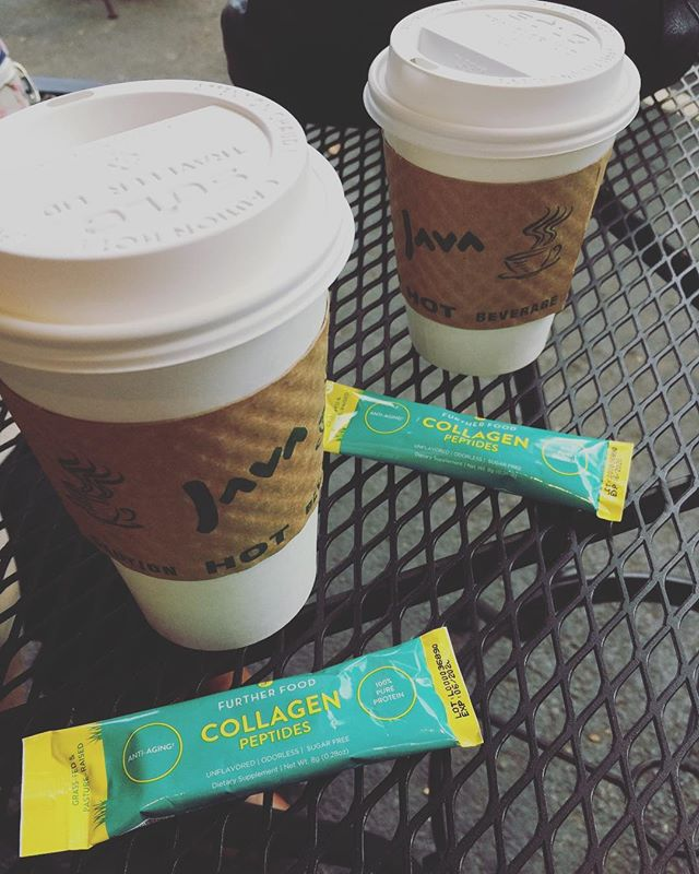 Meetings🍽  When I meet friends for meetings.. I bring reinforcements! Sharing my @furtherfood #collagen travel pack today with @atl_bucketlist 🔥 She is a newbie to collagen but happily shared that 'you can't taste it at all'. Yes!! One of my favorite parts about collagen (besides all the amazing health benefits) is that is user friendly- no weird odor or taste! 👏🏻👏🏻 [Use code: HopefullyPlated for a treat when you head over to @furtherfood] #hopefullyplated #atlantafood #atlantaeats #mealprep #atlantanutrition #atlantafoodie