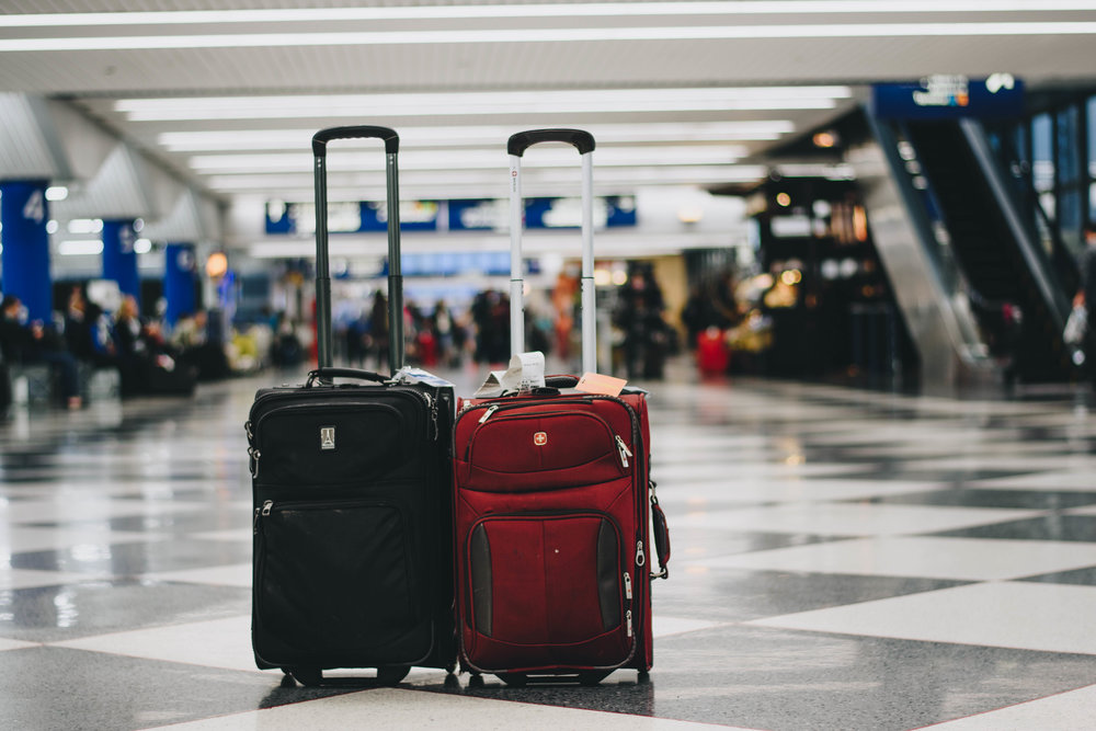 Two Suitcases | O'hare International Airport | October 2016