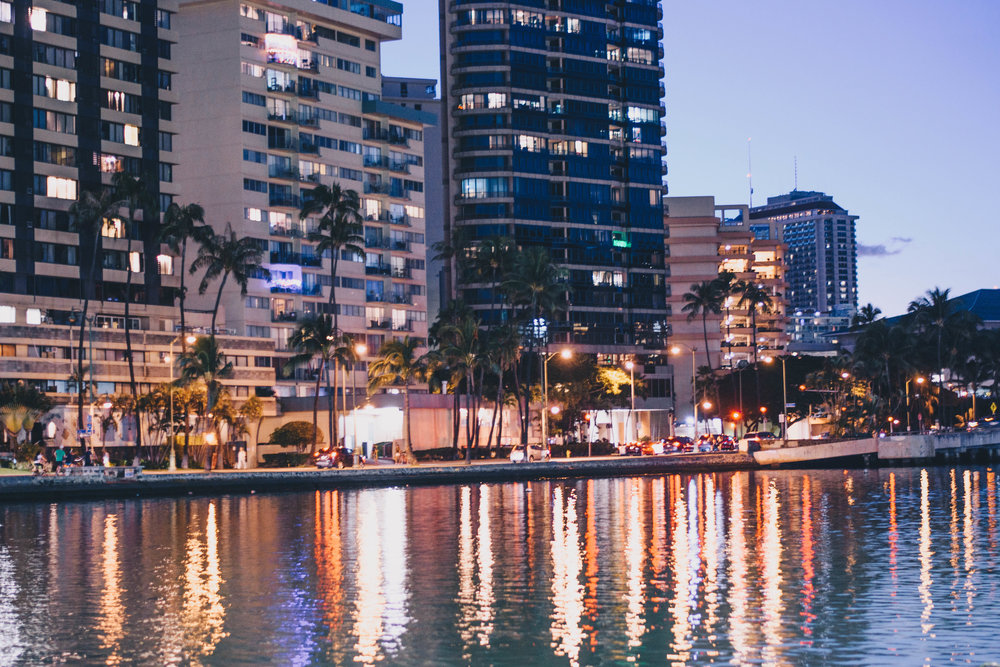 Night Lights   Honolulu, Hawaii   December 12, 2016
