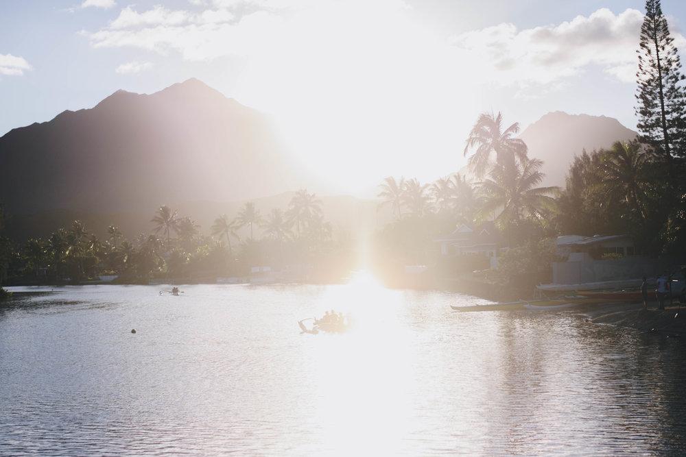 Paused on a Bridge | Kailua, Hawaii | December 13, 2016