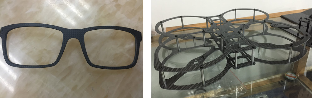 Sample Carbon Fiber Products from our Short-listed Suppliers