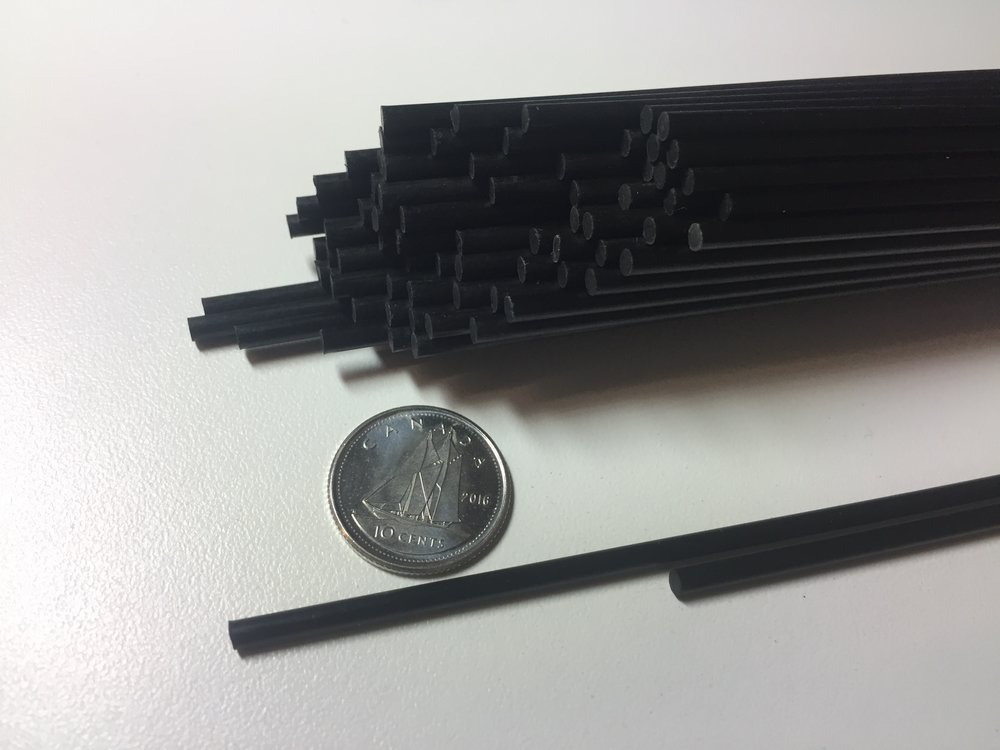 Solid Continuous Carbon fiber Rods - Stronger than Steel and Lighter than Aluminum