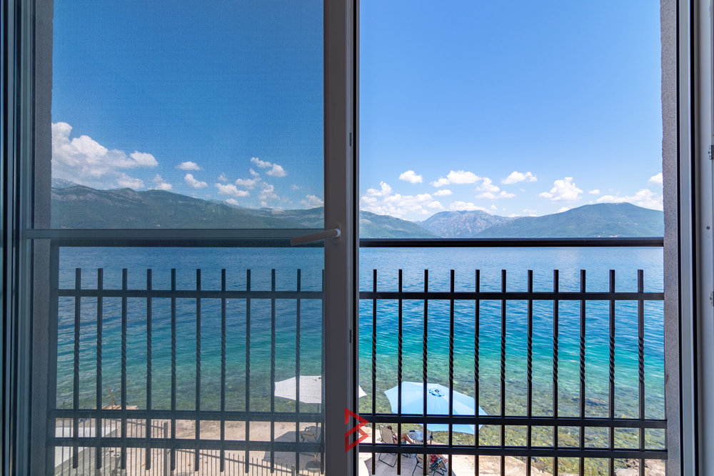 First line villa with private beach for sale in Tivat