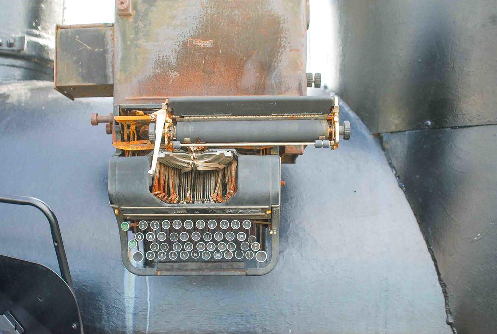 Typewriter detail on the Great Locomotive