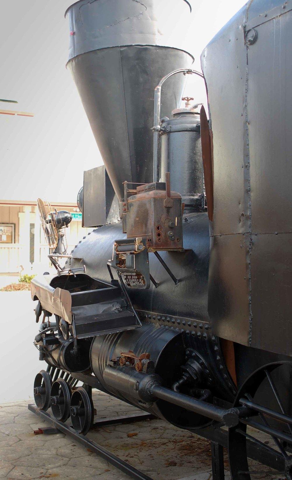 Sebastopol artist Patrick Amiot's Great Locomotive sculpture.