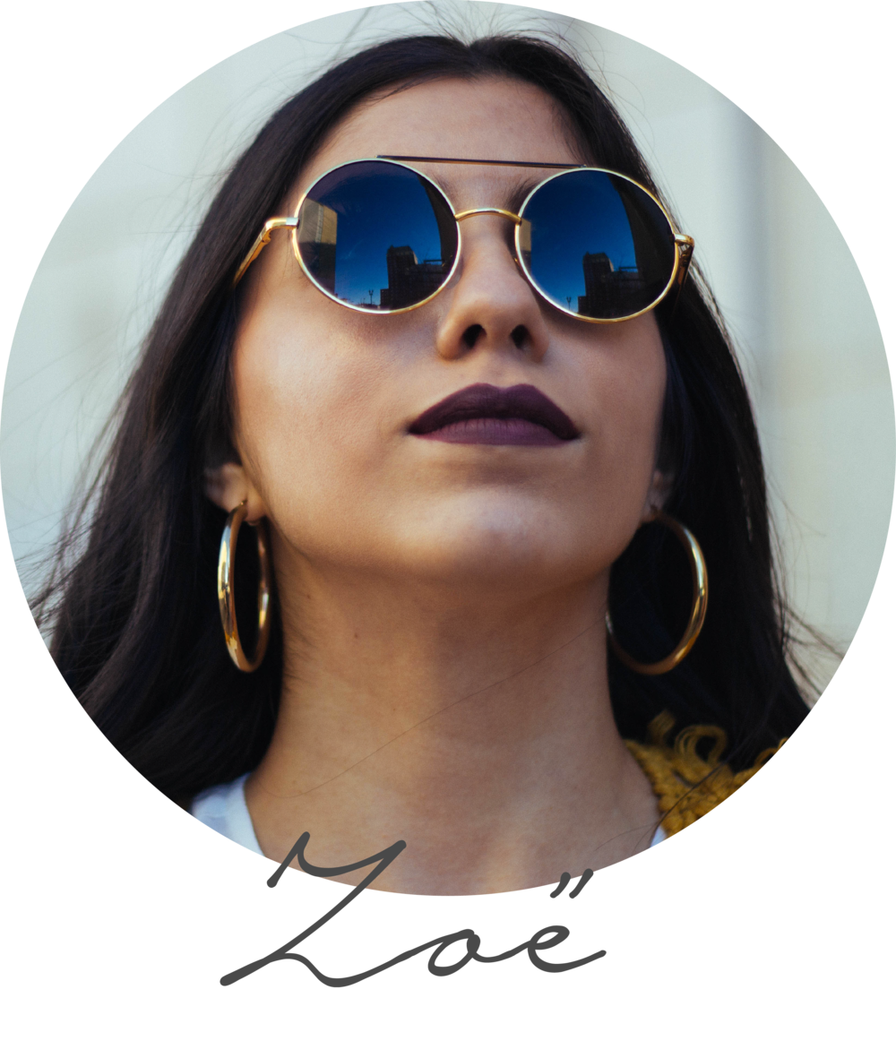 I'm Zoë (zo-ee), the other half of Sun Eyed Girl, and I live in the beautiful Sun City— El Paso, Texas. I'm a business student at UTEP and I also work at the cutest little boutique your eyes ever saw called J. Luxe. I have big hopes and dreams, and I don't plan on stopping for no one. I'm obsessed with: sushi, pizza, crazy/cool socks, cuddles with my bf, witty humor, eyes, experiencing live music and naps. I haaaaate: creative ruts, pineapple (I know, I know), washing my hair two days in a row, picky people, and being the person who has to decide where to eat [insert rolling eyes emoji here].