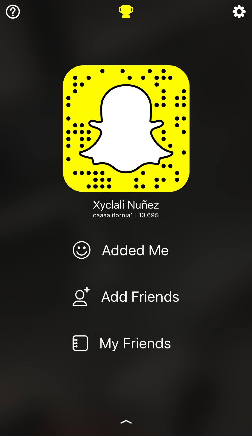 Take a picture with snapchat to add Xyclali.