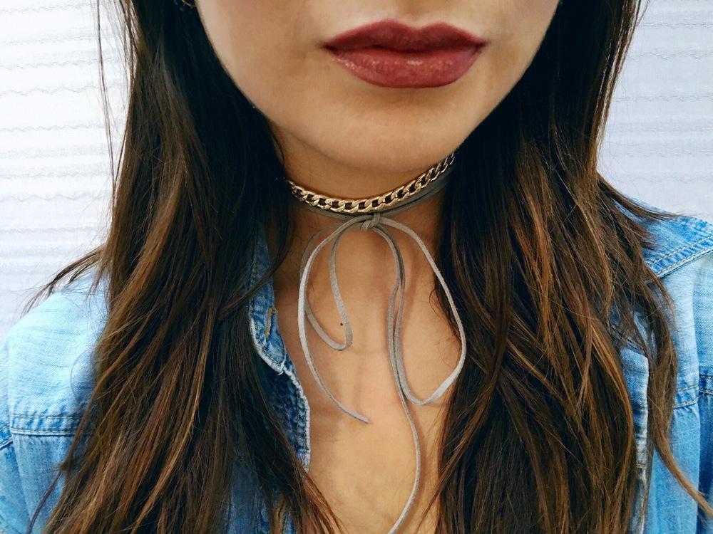 Cali is wearing Kween from Colourpop's Ultra Metallic Lip Collection