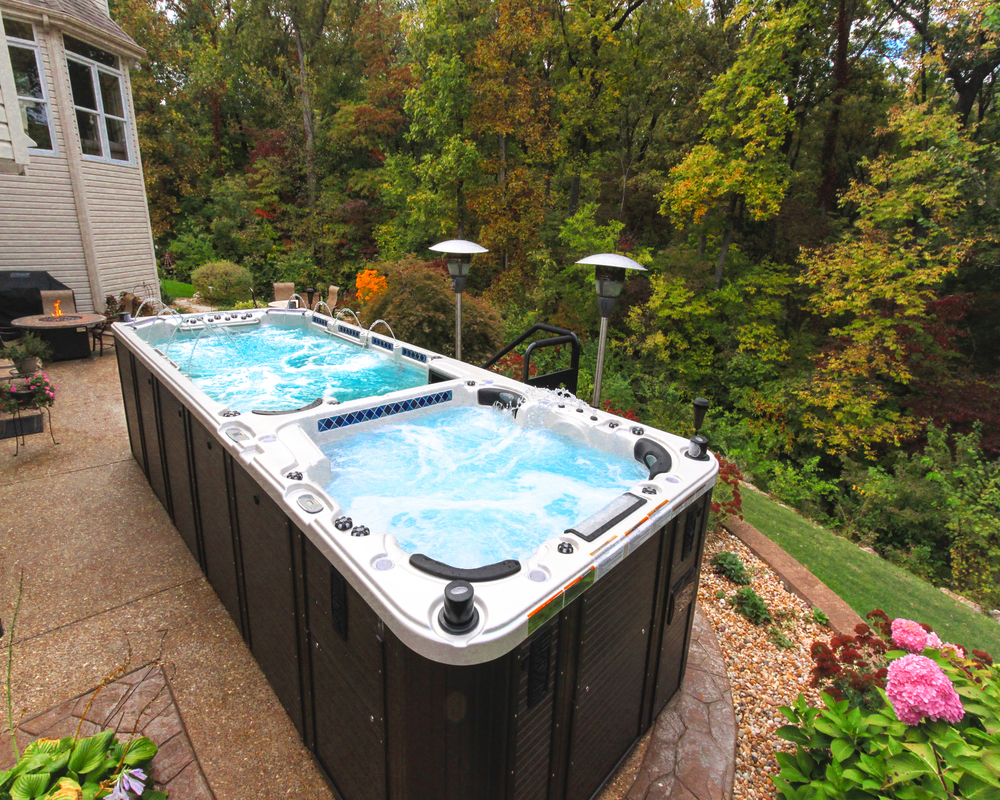 Swim spas swim spa dealer st louis mo prestige pools for Swimming spa