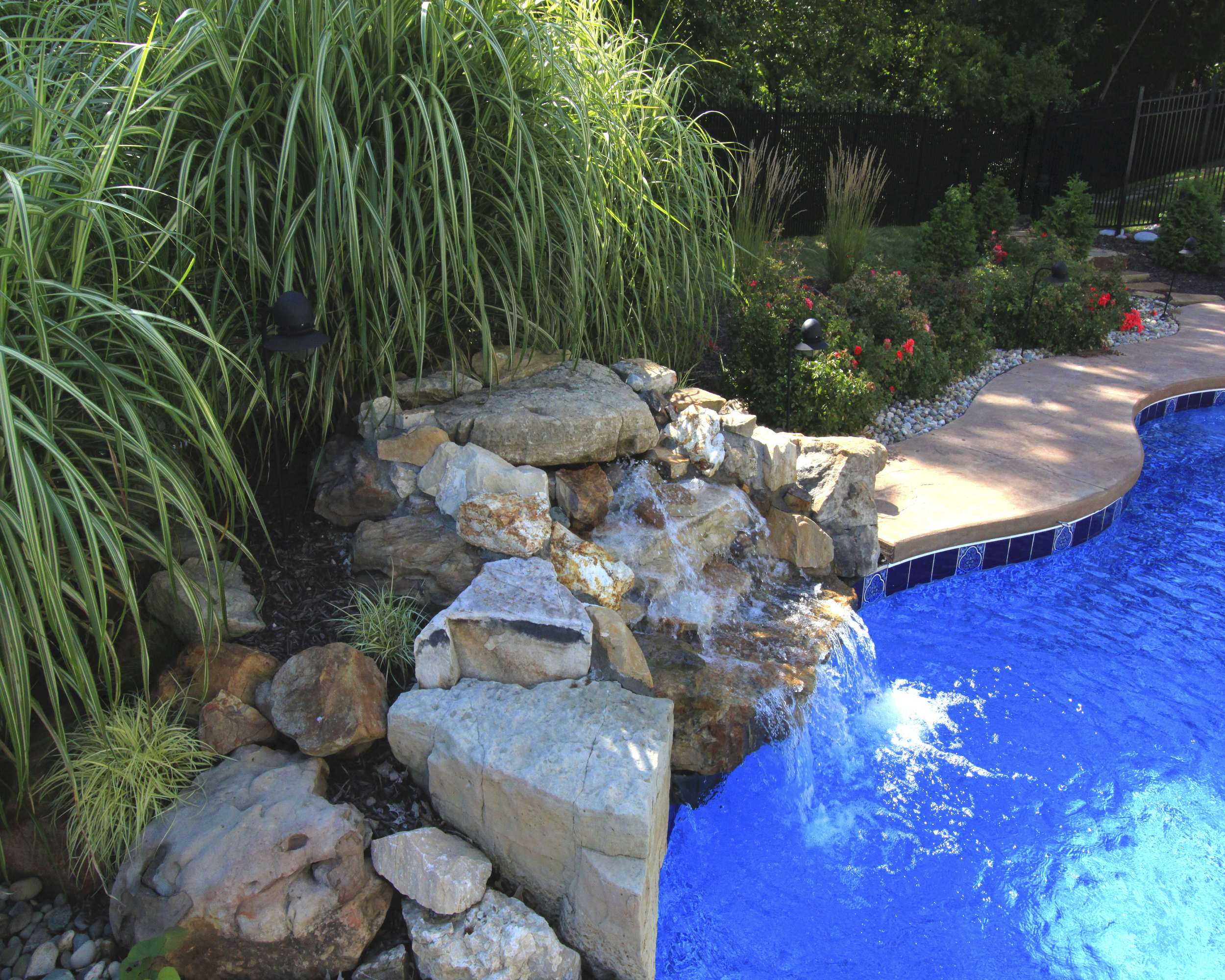 in ground pool water features in ground pool dealer st louis mo