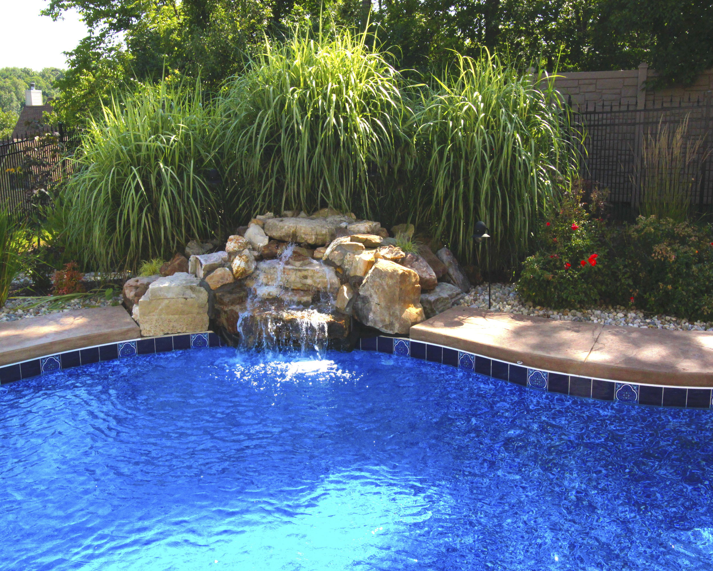 In Ground Pool Water Features - In Ground Pool Dealer St Louis MO ...