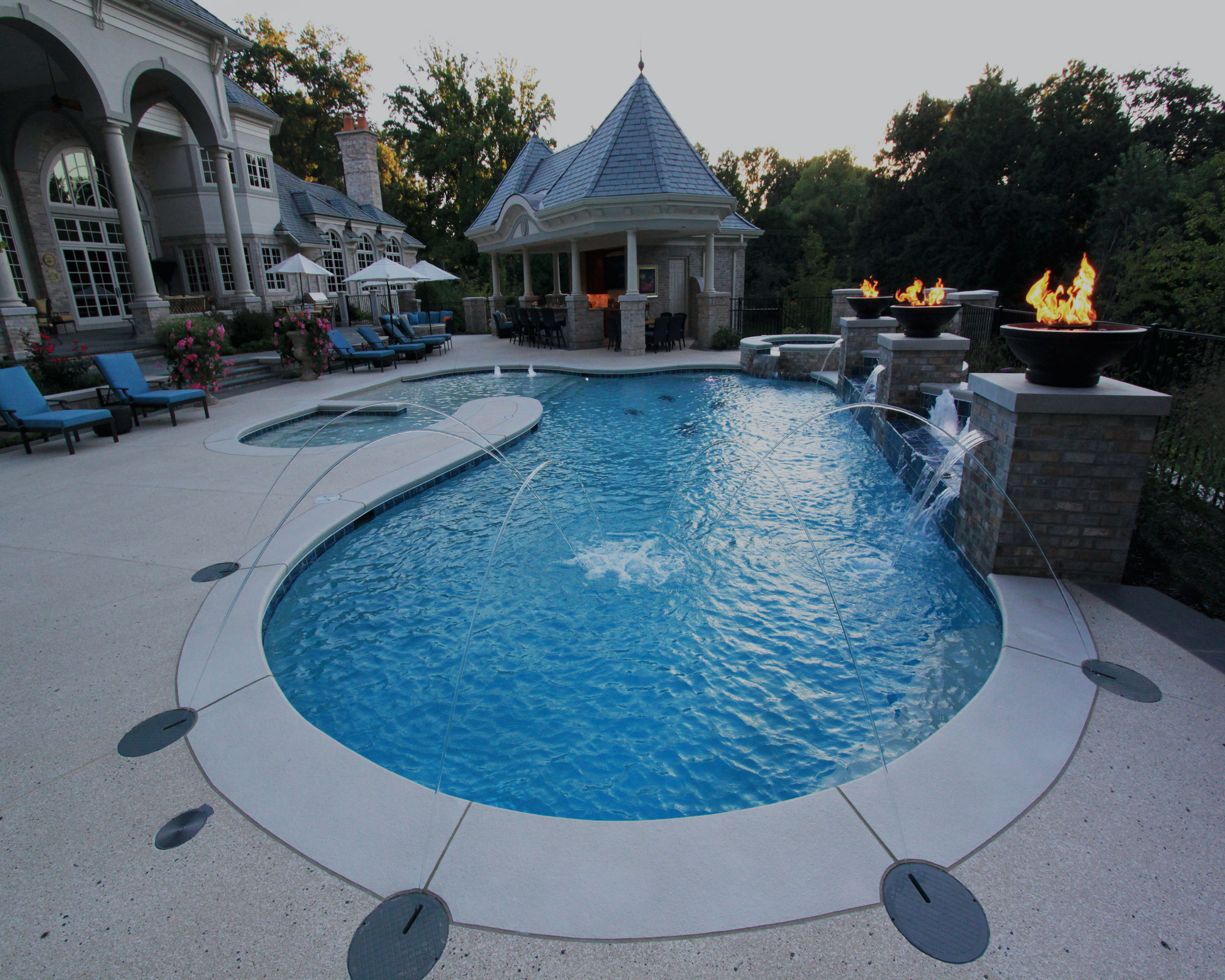 Inground Fiberglass Pools Cozy Home Design
