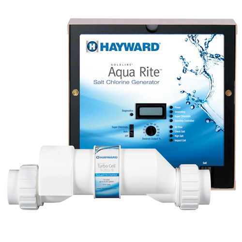 Hayward's AquaRite Salt system is a convenient alternative to conventional chlorine - bringing your pool soft, silky water with no more red eyes, itchy skin, or harsh odors.