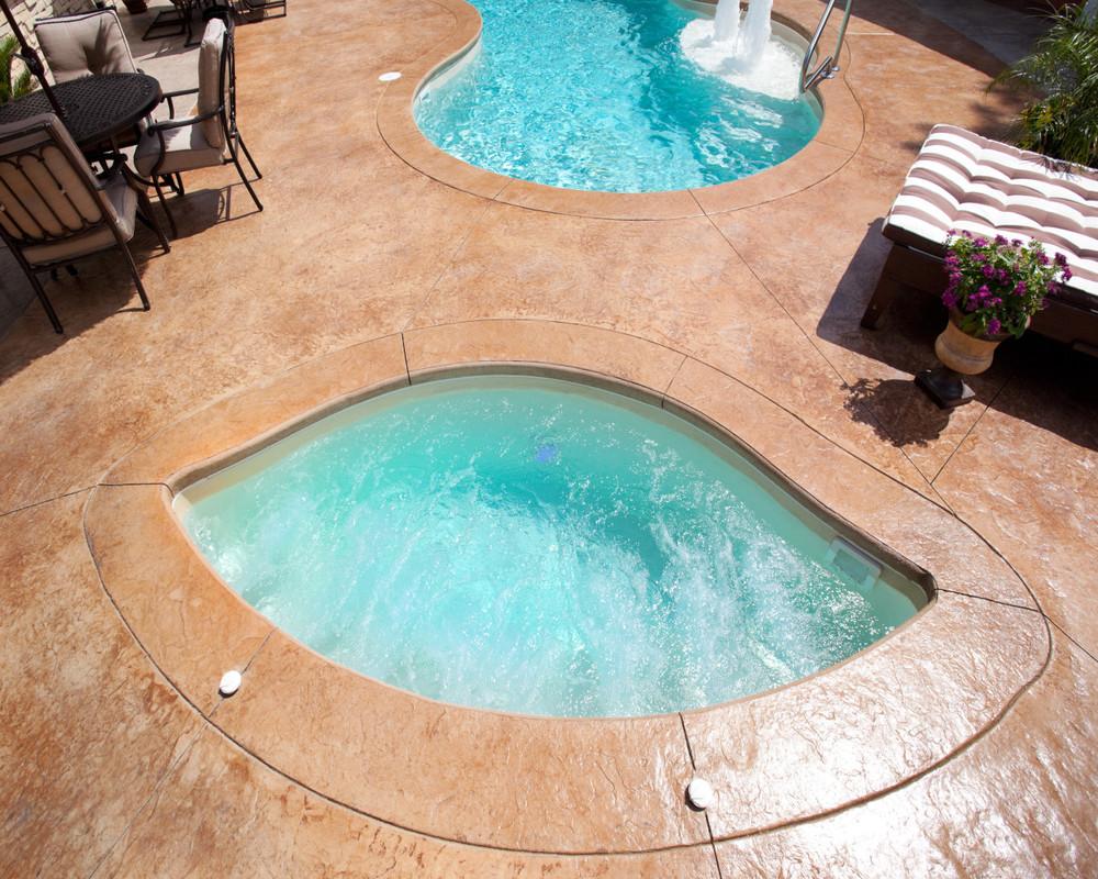 3 - Fiberglass Hot Tub