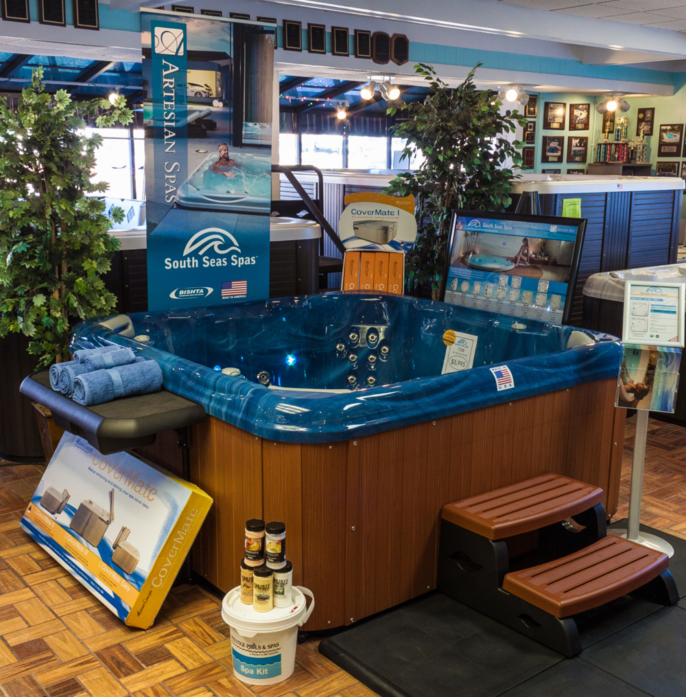 The new South Seas Spas line is pretty sharp and MADE IN THE U.S.A.!