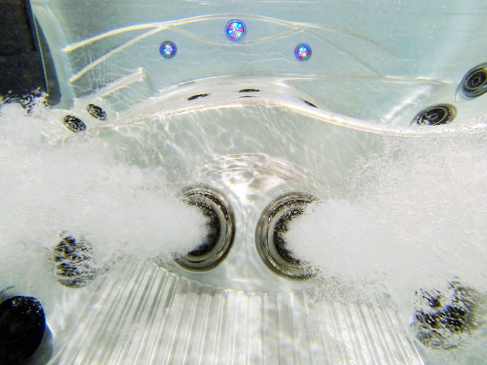 Dual Footblasters- A standard feature on all Island Elite Spas at Prestige Pools and Spas.