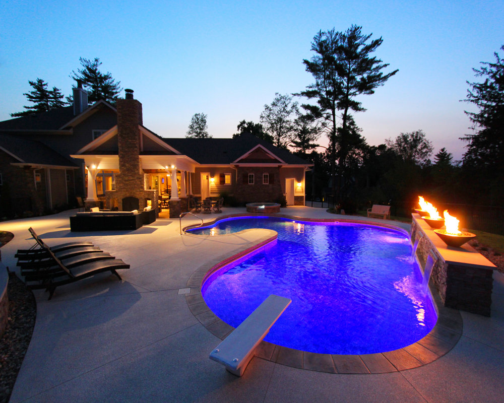 Think beyond the pool: Outdoor covered entertainment areas...