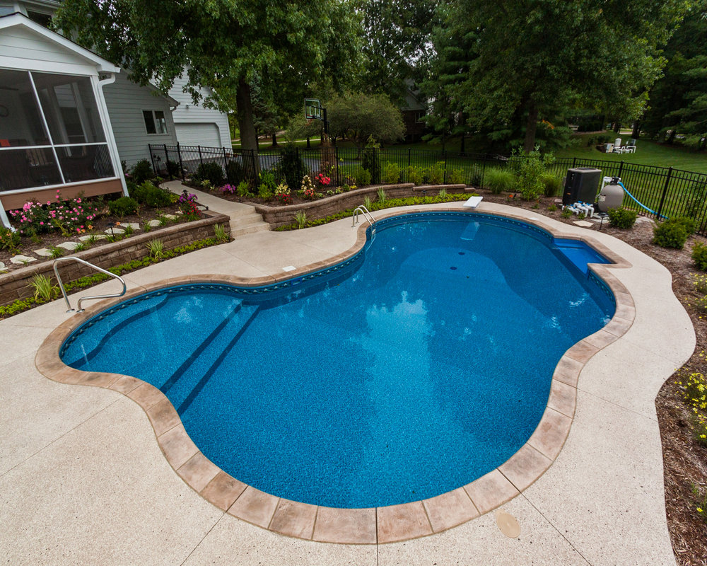 Inground Pools in ground pools - vinyl liner in ground pool dealer st louis mo