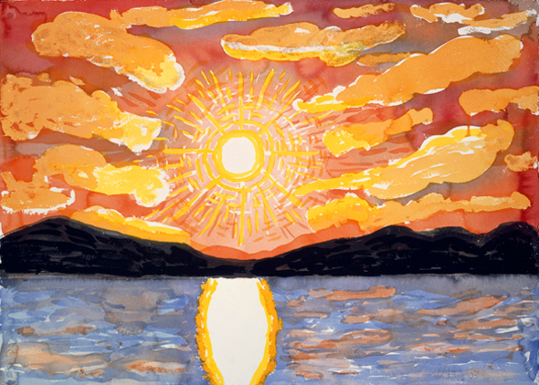 David Hockney, Sol de medianoche, 2003