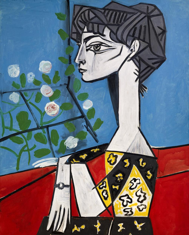 Picasso, Jacqueline with Flowers/Jacqueline aux Fleurs , 1954