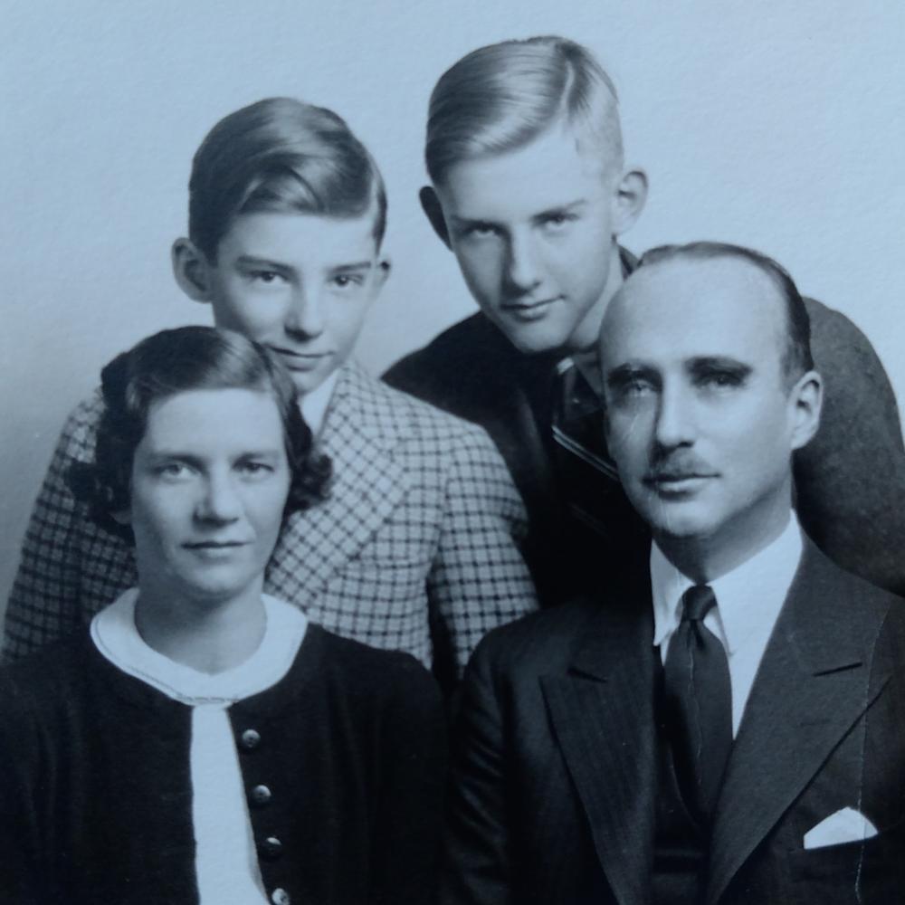 The Sykes Family, 1937. L to R: Laura, Calvin, Walter, Howard