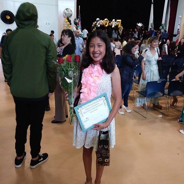 Leadership award recipient Joanna Ramos from Walnut Park Middle School. #educarefoundation #leadership #leadershipawards