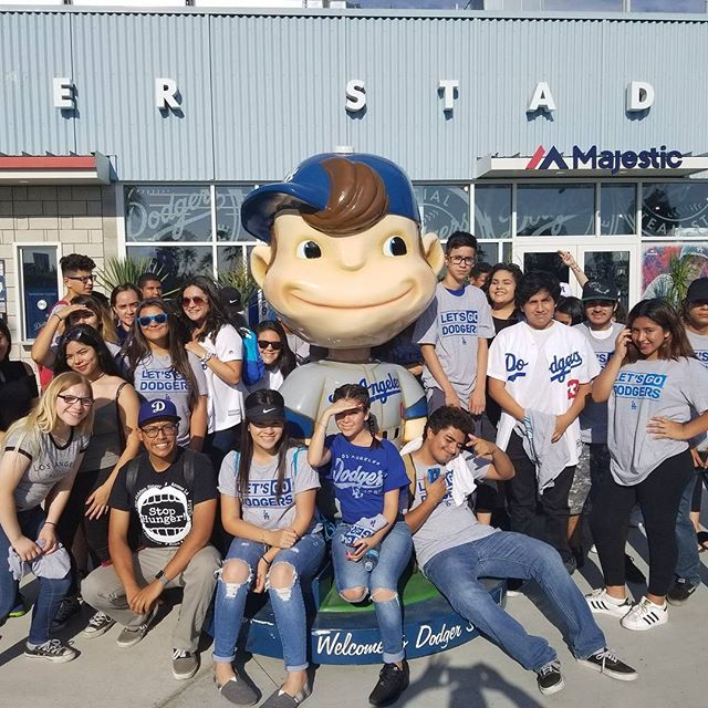 Sun Valley High School students having fun at the @Dodgers game last week. For many of these students, this was their first Dodger game. Thank you for the memorable experience! #K4DB #Educarefoundation #letsgododgers