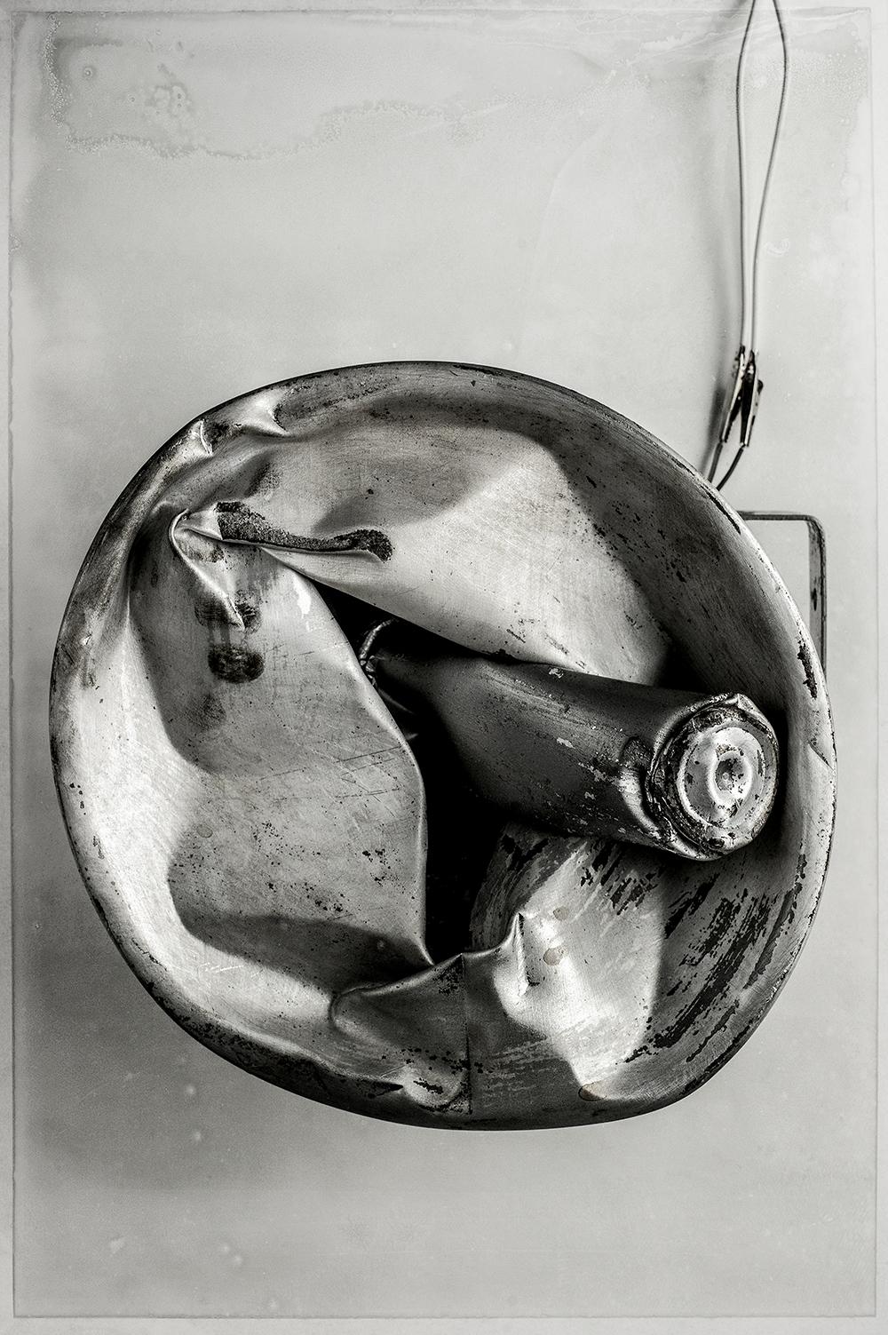 """Collision no 01 , 2015.  [série Dialogues]   Épreuves photographiques sur papier hahnemuehle 300 gsm, montage sur aluminium, bois & acier brut.   Photographic print on hahnemuehle 325gsm paper   162.7 x 111.8 cm (64"""" x 44"""")   Edition 1/5"""