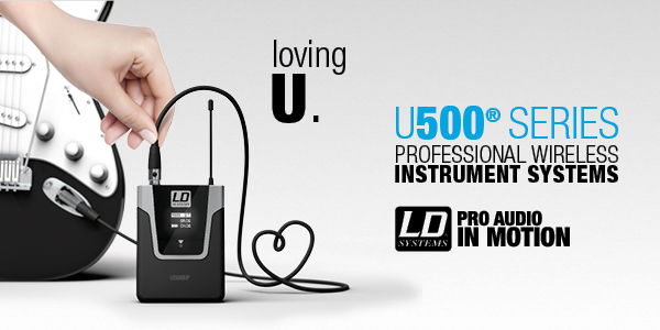 LD Systems U500® Series Professional Wireless Instrument Set Whether you play guitar, bass, wind or bowed string instruments, the U500 Series has been designed around you. Making professional technology and sound most affordable, we have listened to your feedback and created a wireless instrument system with amazing performance and reliability that is sure to surpass your expectations. With a focus on pro and semi-pro users, our engineering and development created the U500 Series to share your emotions and great onstage moments.