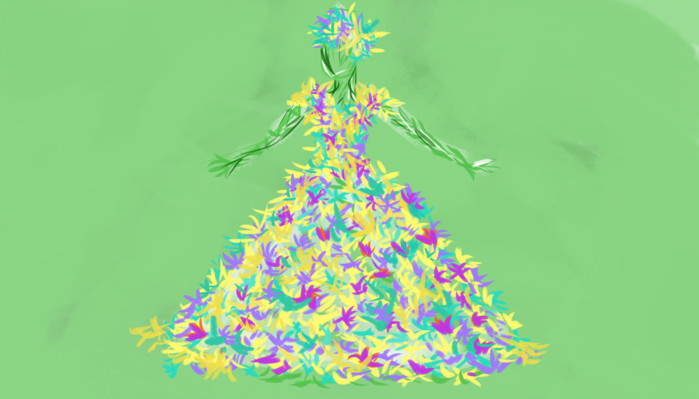 Concept Art: Organic Organza Gown, Grown On.