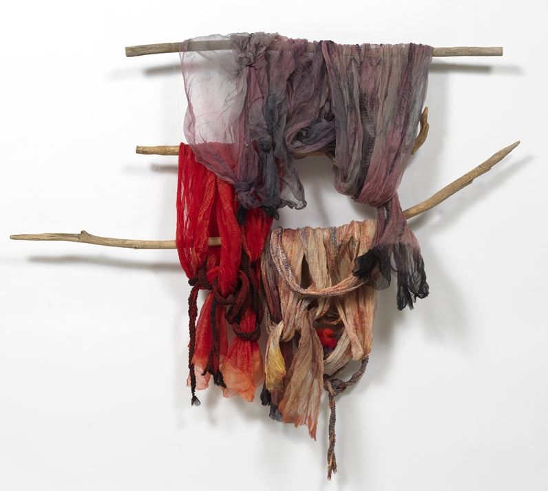 Triumverate of Maladies Silk Organza Wool Roving Threads Wood 4.5fX6ftX12in-2.jpg
