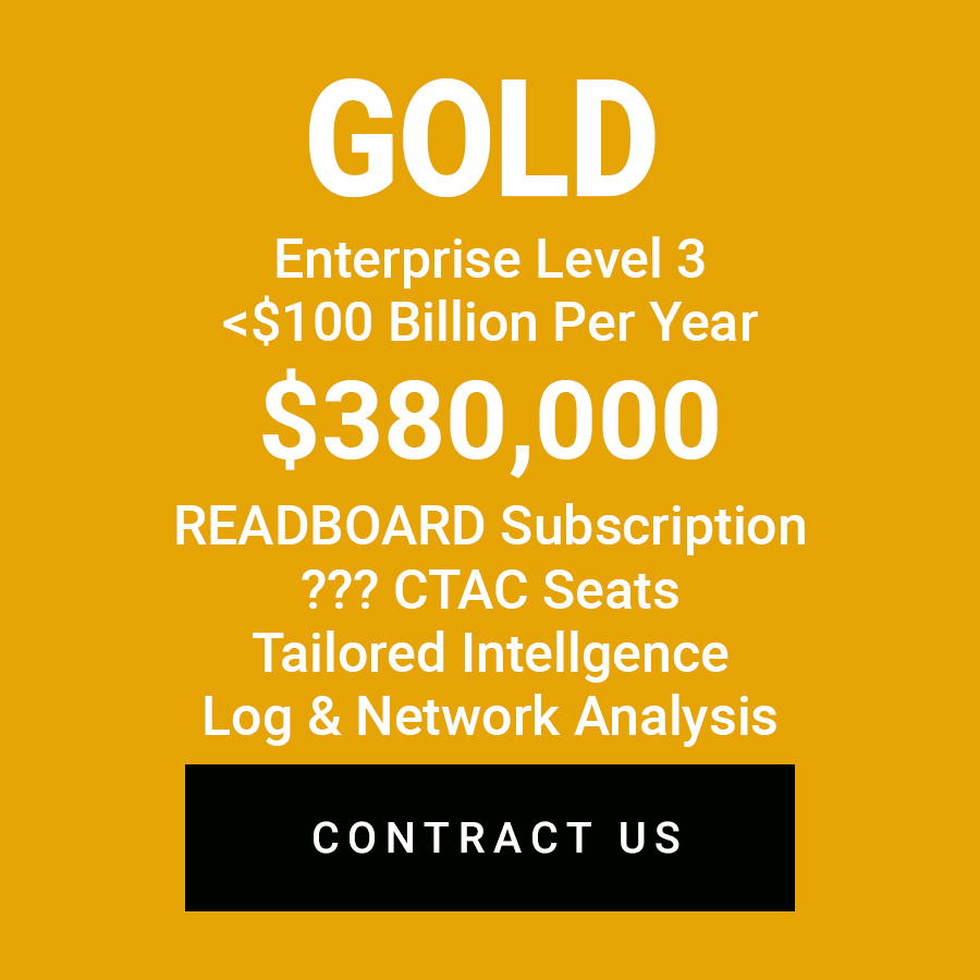 EnterpriseLevel 3 - The full suite of Wapack's capabilities offered as a Service, plus tailored intelligence, log analysis, netflow analysis. Prices start at $380,000 per year.