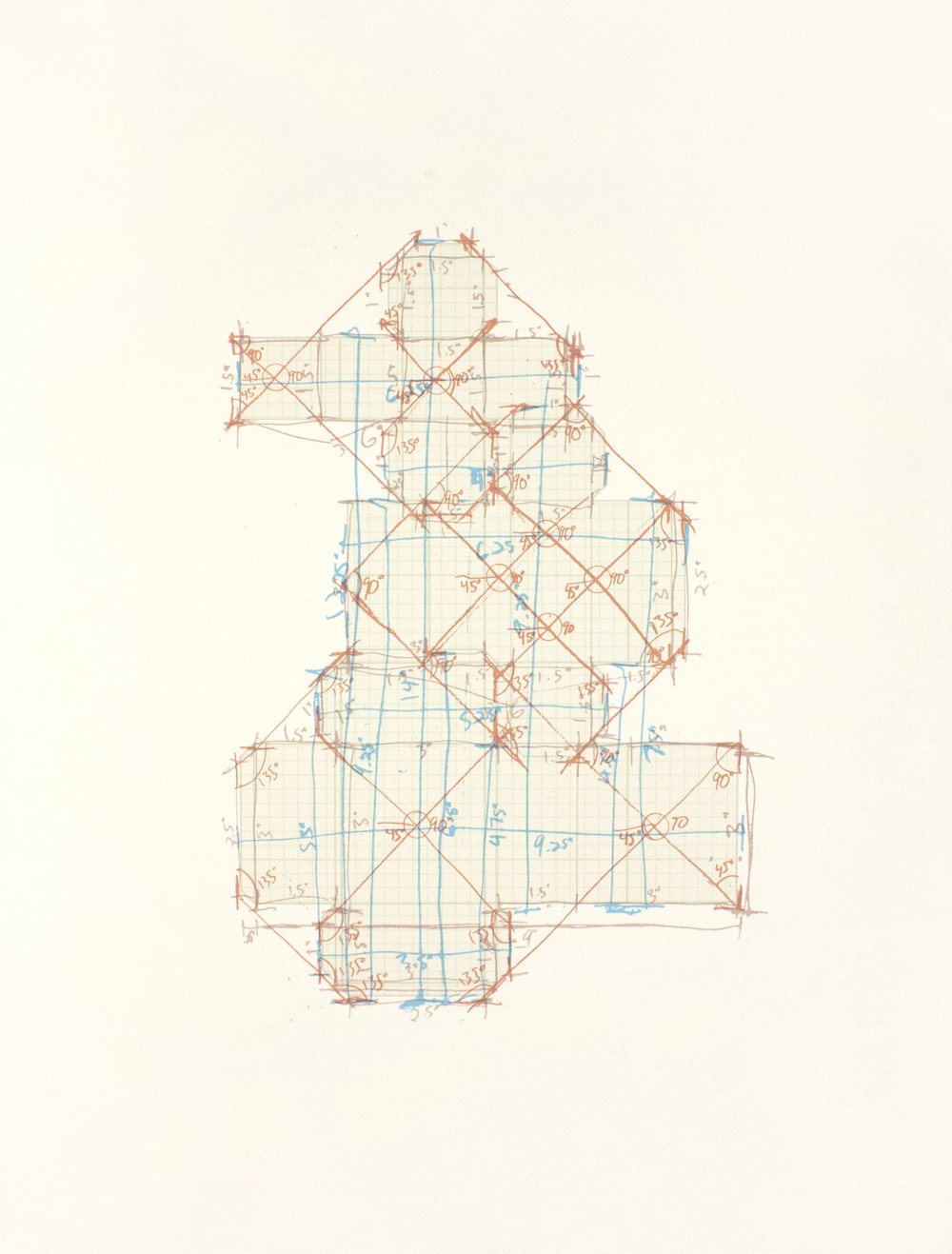 Paper Box Floor Plan  $325   24in. x 18in.  screenprint, giclee print