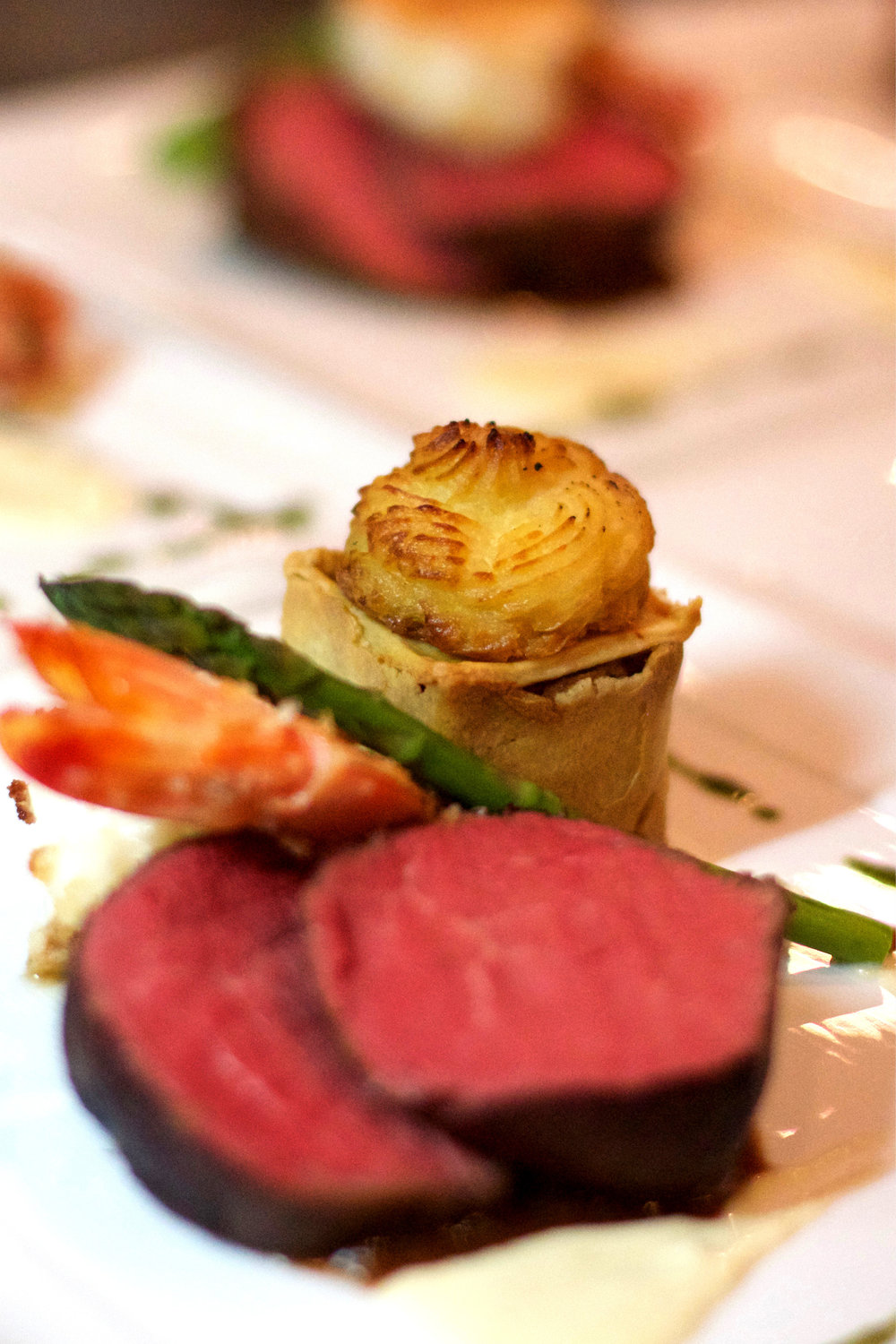 Chef Daniela Sanchez's Surf & Turf onboard Remember When