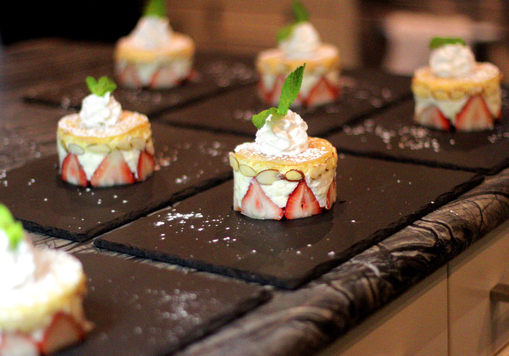 Strawberry, almond and cream Fraisier.