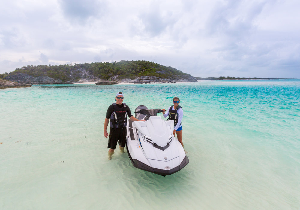 Jet skis are a great way to explore while on charter