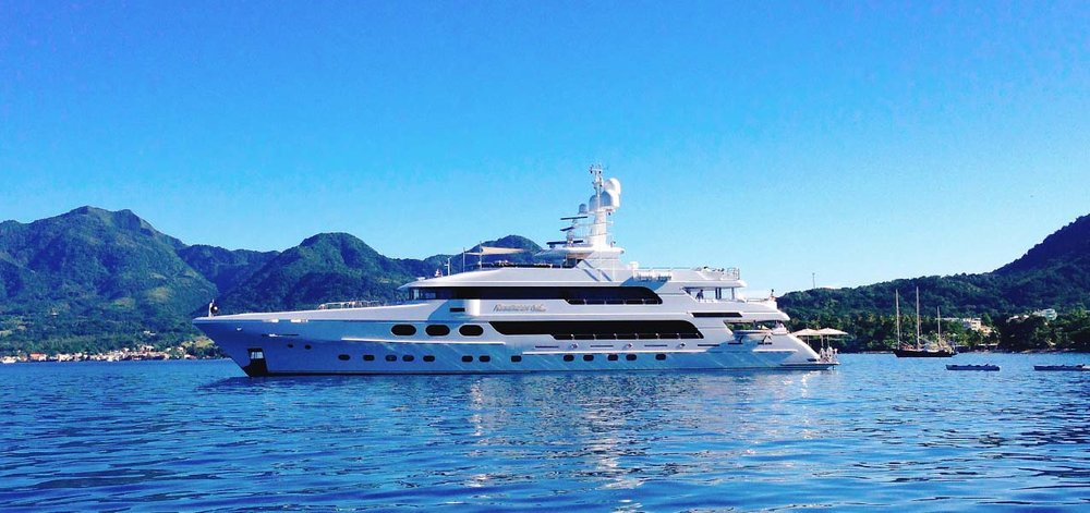 162' Christensen Motoryacht Remember When is prepared to pamper guests in style after a day of adventures in Dominica.