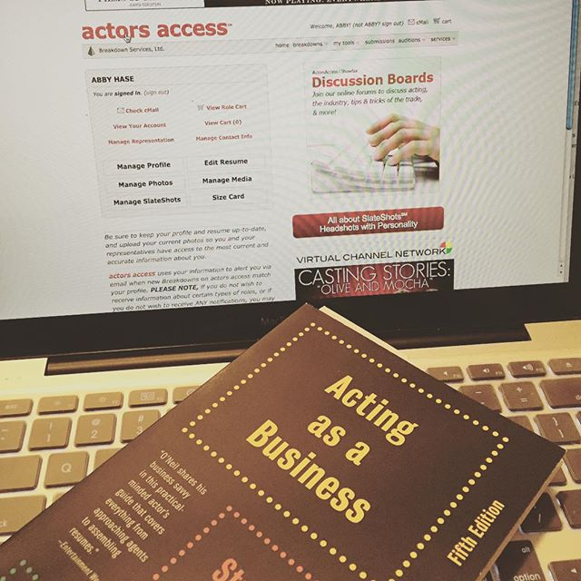 My New Years resolution is to do better with social media. So, here I am, keeping up to date on actors access and learning about the business of show business. My crazy exciting life right here.