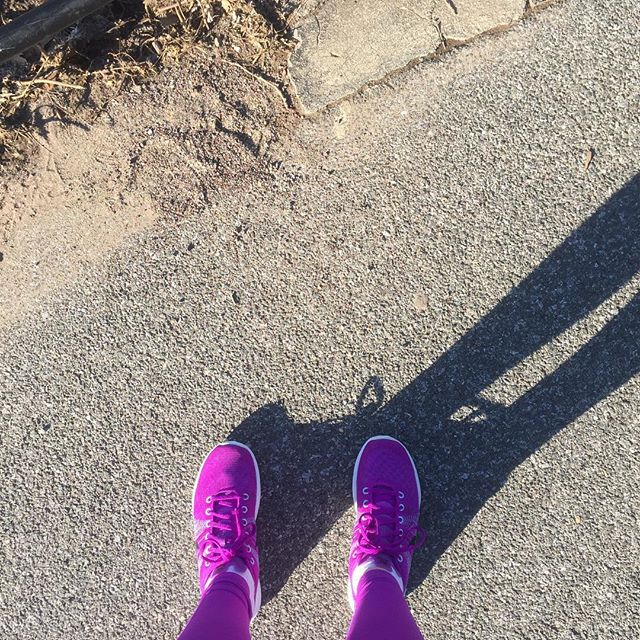 It is spring outside today! Ran New York and it was amazing. Purple makes me run fast. #freshair #fitness #blessed #nofilter