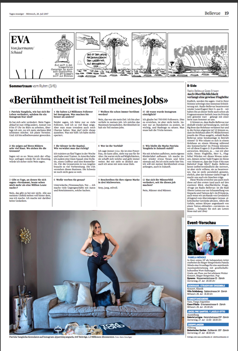 TAGES ANZEIGER JULY 2017