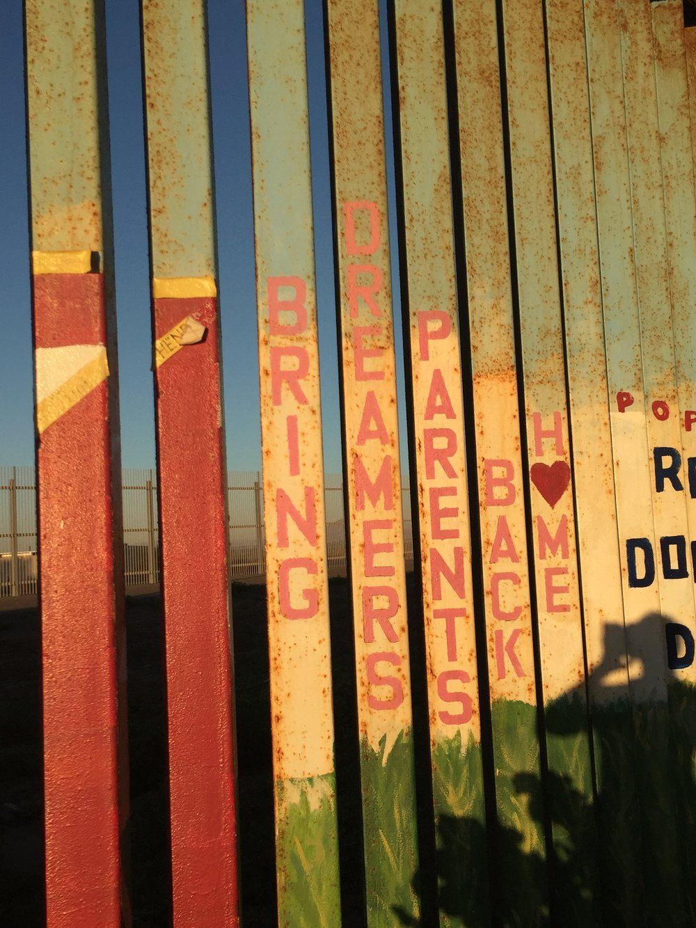 The Southern Border from the Mexican side. Nov. 2016. Credit: AJ Joven