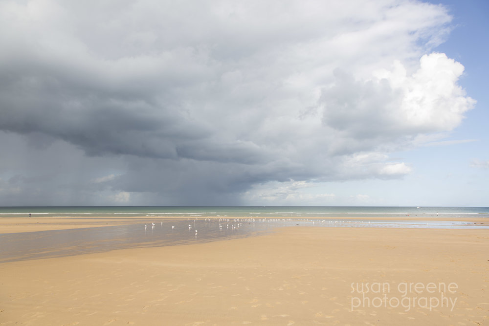 omaha beach and sky