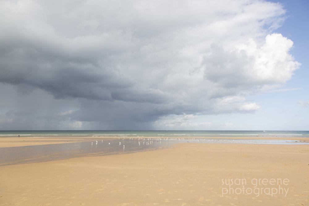 omaha beach and sky