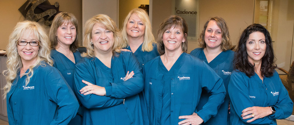 Your Dental Hygienists: Kim, Fran, Lora, Cindy, Shelley, Brandy, Annette