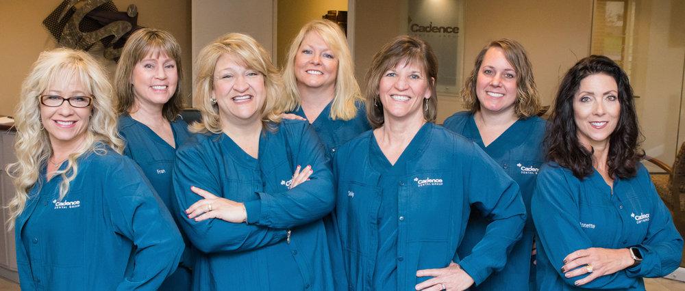 Your Dental Hygienists: Kim, Fran, Lora, Cindy, Shelley, Brandy, Annette